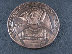 Bakren kovanec z Anne Boleyn