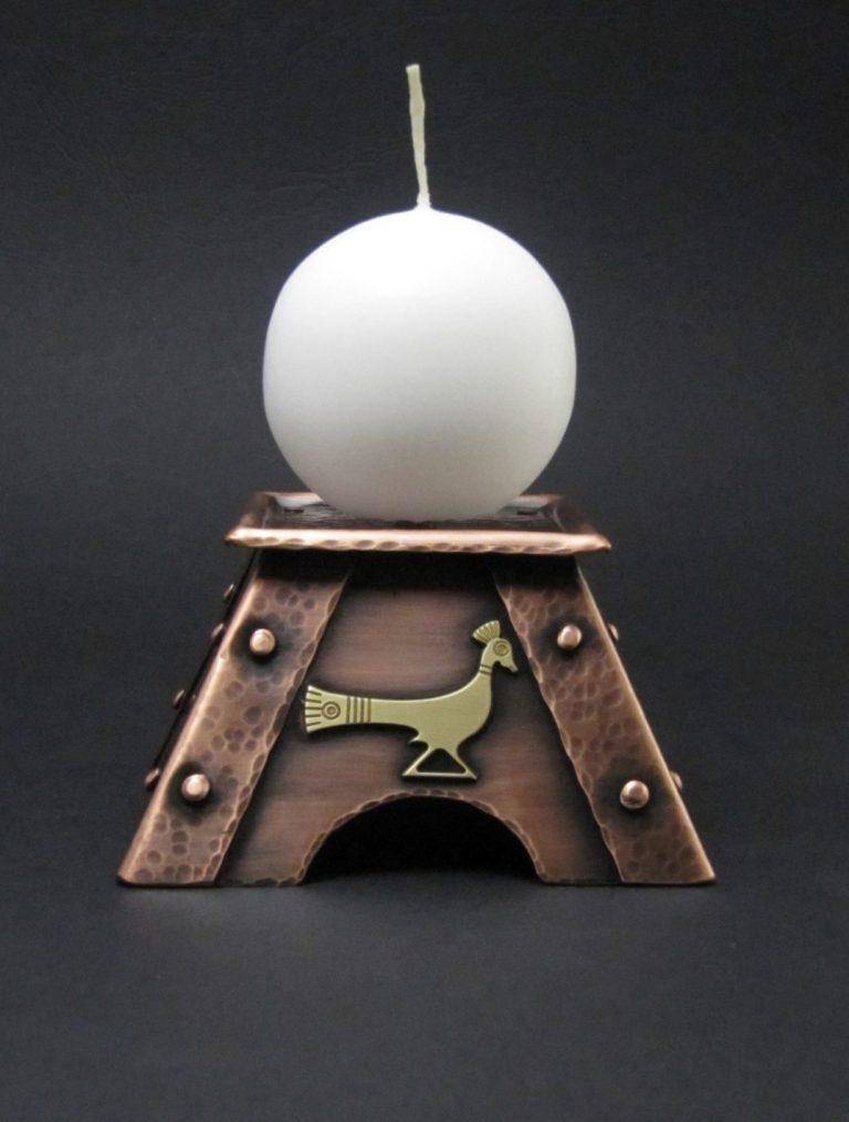 Svečnik z rajsko ptico (2)